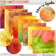 Autumn Watercolor digital papers
