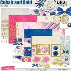 Cobalt and Gold Collection | by DRB Designs @ ScrapGirls.com