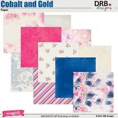 Cobalt and Gold Paper | by DRB Designs @ ScrapGirls.com