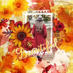 fall layout using autumn accents