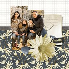 ScrapSimple Embellishment Templates: Warm and Cozy Flowers Layout