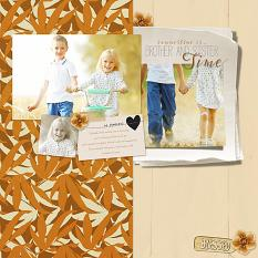 ScrapSimple Paper Templates: Warm and Cozy Floral Layout