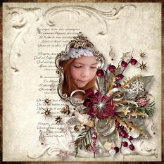 layout using christmas angels collection by d's design