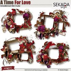A Time For Love Embellishment Mini Cluster