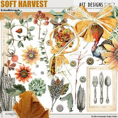 Soft Harvest #digitalscrapbooking Thanksgiving and Harvest inspired embellishments