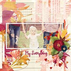Digital scrapbook layout by Angie Briggs