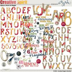 Creative Spirit alpha and word art