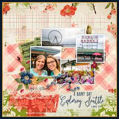 Digital scrapbook layout by April Martell