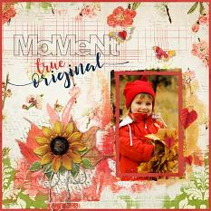 Digital scrapbook layout by Judy Webster