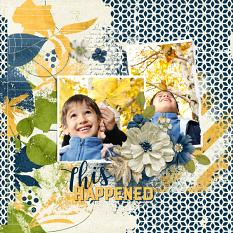 Digital scrapbook layout by Syndee Rogers-Nuckles