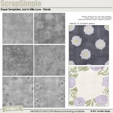 Scrap Simple Paper Templates: Just A Little Love - Florals