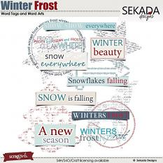 Winters Frost Word Tags and Word Arts