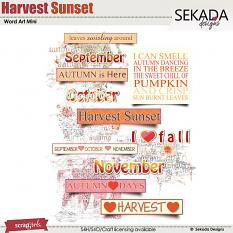 Harvest Sunset Word Art Mini