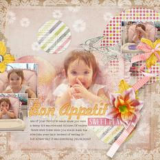 'Bon Appetit Sweet Pea' Layout by AFT designs using Chich Blenders Tools Value Pack