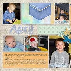 """April"" digital layout by Marlene Peacock features Value Pack: 12x24 Scrap It Monthly Two"