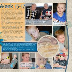 """Week 15"" digital layout by Marlene Peacock features Value Pack: 12x24 Scrap It Monthly Two"