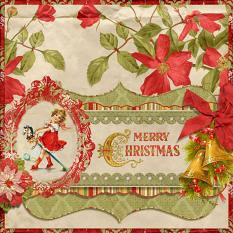 """Merry Christmas"" Digital Scrapbooking Layout By Pam Zeman"