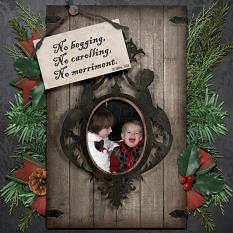 Digital scrapbooking layout, featuring Scrooge Collection