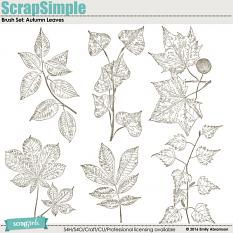 Brush Set: Autumn Leaves
