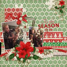 """""""Tis The Season"""" Digital Scrapbooking Layout By Andrea Hutton"""