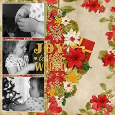 """Joy To The World"" Digital Scrapbooking Layout By Andrea Hutton"