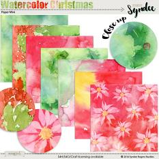 Watercolor Christmas Papers