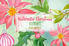 Watercolor Christmas Clip-art samples