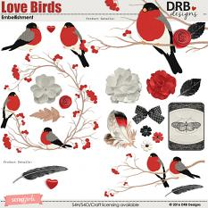 Love Birds Embellishment | by DRB Designs @ ScrapGirls.com
