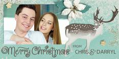 """""""4x8 Inch Christmas Card"""" by Darryl Beers"""