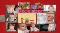 """December"" digital scrapbook layout features Pocket Life: Country Christmas"