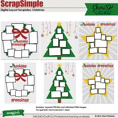 ScrapSimple Digital Layout Templates: Christmas