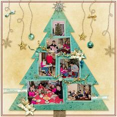 Layout using ScrapSimple Digital Layout Templates: Christmas