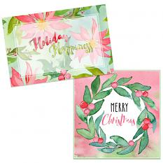 Cards using Watercolor Christmas Kit