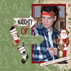 """Naughty or Nice"" layout featuring Naughty or Nice Collection"