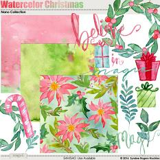 Watercolor Christmas Digital Kit