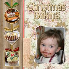"""Christmas Baking"" digital layout by Jan Ransley using the Jingle Bells Collection"