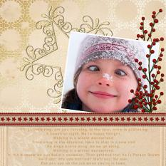 """Sleigh Bells Ring"" digital layout by Jan Ransley using the Jingle Bells Collection"
