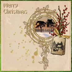 """Merry Christmas"" digital layout by Jan Ransley using the Jingle Bells Collection"