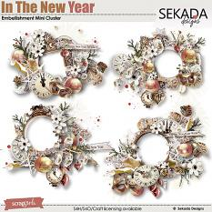 In The New Year Embellishment Mini Cluster