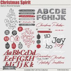 Christmas Spirit Alphas & Word Art