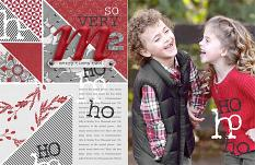 Christmas Spirit layout by Brandy Murry