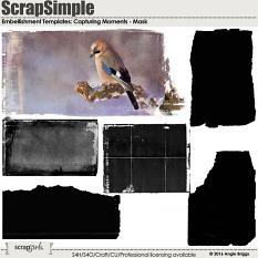 ScrapSimple Embellishment Templates: Capturing Moments Mask