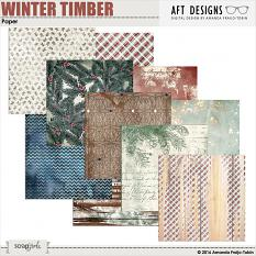 Winter Timber #digitalscrapbooking background papers by AFT designs @ ScrapGirls.com | #winter #printables #scrapbook