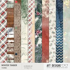 Papers included in Winter Timber Value Pack | AFTdesigns.net