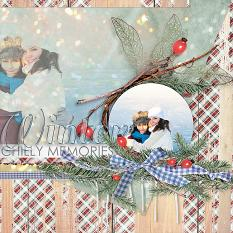 #digitalscrapbooking winter layout idea by AFTdesigns.net - Amanda Fraijo-Tobin #papercrafts #memorybook #layout #scrapbooking