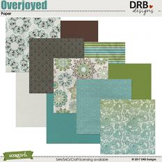 Overjoyed Paper by DRB Designs | @ ScrapGirls.com