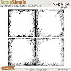 ScrapSimple Paper Templates: Edges Overlays Snow Everywhere
