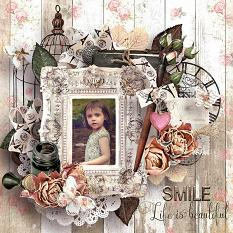 layout using romantic' addict value pack by d's design