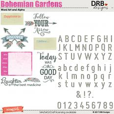 Bohemian Gardens Word Art & Alpha by DRB Designs | ScrapGirls.com