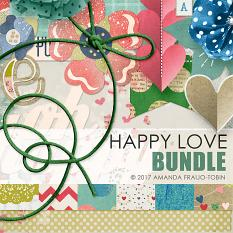 Happy Love #digitalscrapbooking bundle by AFT designs | Amanda Fraijo-Tobin @ ScrapGirls.com